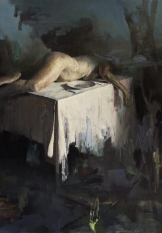 LHomme-est-un-homme-pour-lHomme-2014-huile-sur-toile-195x162cm-private-collection
